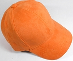 Suede Dad Hats Wholesale Blank Baseball Caps - Slider Buckle - Orange