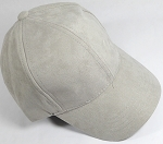 Suede Dad Hats Wholesale Blank Baseball Caps - Slider Buckle - Light Gray