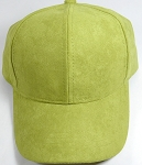 Suede Dad Hats Wholesale Blank Baseball Caps - Slider Buckle - Olive