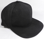 PU Suede Wholesale Blank Snapback Caps - Solid - Black