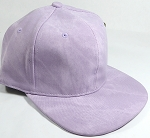 PU Suede Wholesale Blank Snapback Caps - Solid - Light Purple
