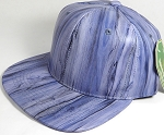 Colored Woodprint Solid Blank Snapback Hats Wholesale - Blue