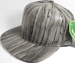 Colored Woodprint Solid Blank Snapback Hats Wholesale - Dark Gray
