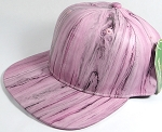 Colored Woodprint Solid Blank Snapback Hats Wholesale - Pink
