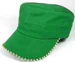 Bling Blank - Cadet Caps Wholesale - Kelley Green