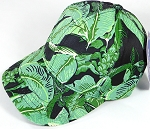 Wholesale Dad Hat - Baseball Blank Caps - Floral - Banana Leaf