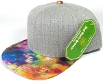 Wholesale Light Grey Denim Snapback Cap - Galaxy - Multicolor