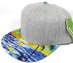 Wholesale Light Grey Denim Snapback Caps - Beach - Original