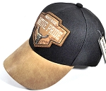 Wholesale Native Pride Leather Brim Cap - Heritage - Black