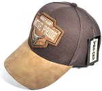 Wholesale Native Pride Leather Brim Cap - Heritage - Brown