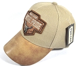 Wholesale Native Pride Leather Brim Cap - Heritage - Khaki