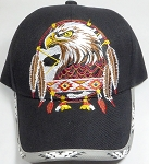 Wholesale Native Pride Baseball Cap - Eagle Dream Catacher - Black