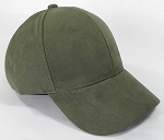 Suede Dad Hats Wholesale Blank Baseball Caps - Slider Buckle - Olive Green