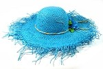 Women's Fashion Summer Straw Sun Hats Wholesale - Cool Blue