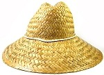 Safe Guard Straw Hat Wholesale - Natural Straw 100% with Chin String