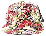 Wholesale 5 Panel Blank Floral Camp Hats - All Flower 2