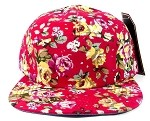 Wholesale 5 Panel Blank Floral Camp Hats - All Flower 4