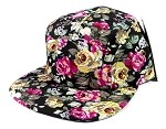 Wholesale 5 Panel Blank Floral Camp Hats - All Flower 7