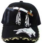 Native Pride Baseball Caps Hats Wholesale - Peace Pipe & Buffaloes