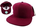 Blank Burgundy Snapback Hats Caps Wholesale - Burgundy Brim