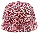 Blank Cheetah Snapbacks Hats Wholesale - All Cheetah | Pink