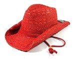 Toyo Outback Western Cowboy Straw Hats Wholesale - Red