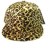 Plain Leopard/Cheetah Snapback Hats Wholesale - Golden Brown