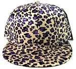 Plain Leopard/Cheetah Snapback Hats Wholesale - Purple