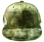 Blank Alligator | Croc Snapback Hats Wholesale - Green