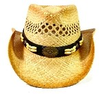Children's Cowboy Hats Wholesale - Junior Straw Hats with Beads