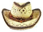 Children's Cowboy Hats Wholesale - Junior Straw Hats with Beads 2