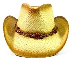 Children's Cowboy Hats Wholesale - Junior Straw Hats with Beads 3