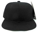 Junior Kids Blank Vintage Snapback Hats Wholesale - Solid Black