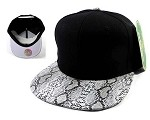 Animal Print Snakeskin Snapback Hats Caps Wholesale - Black | White