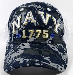 Wholesale US Military Navy Caps - NAVY Mesh Hats - Digital Camo