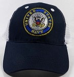 Wholesale US Military Navy Caps - NAVY Insignia Mesh Hats