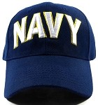 Wholesale US Military Navy Caps - NAVY Text Hats