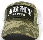 Wholesale US Military Army Caps - ARMY Mesh Hats Camo