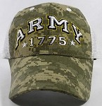 Wholesale US Military Army Caps - ARMY Camo Mesh Hat