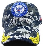 Wholesale US Military Navy Hats - NAVY Retired Camo Caps