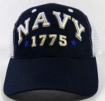 Wholesale US Military Navy Hats - NAVY Mesh Caps