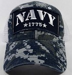 Wholesale US Military Navy Hats - NAVY Camo Mesh Caps