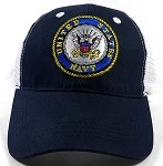 Wholesale US Military NAVY Emblem Mesh Caps Hats