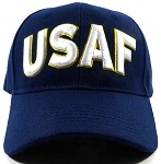 Wholesale US Military Ball Caps - USAF Text Hats