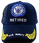 Wholesale US Military Baseball Caps - Navy Retired Hats 2