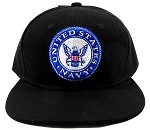 Wholesale US Military Snapback Caps - Navy Emblem Hats