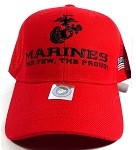 US Military MARINE Baseball Caps Wholesale - The Few, The Proud