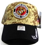 US Military MARINE Insignia Caps Wholesale - Desert Camo & Black
