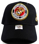 US Military MARINE Insignia Ball Caps Wholesale - Black