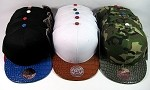 Blank Alligator Skin Vintage Snapback Hats Wholesale